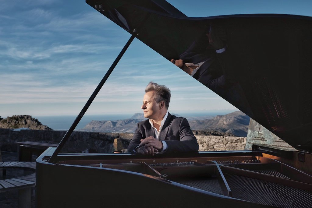On top of Table Mountain: South African classical and jazz pianist, Charl du Plessis